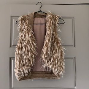 Kaitlyn brown faux fur vest size small